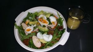 %salade gerookte kip
